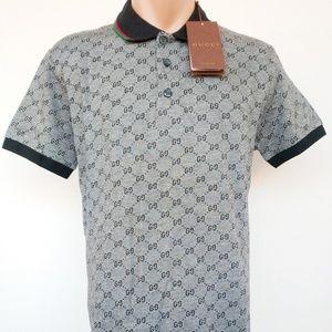 ec18ae979075 Gucci Shirts | Polo Shirt Gray Size M Cotton Men Women | Poshmark